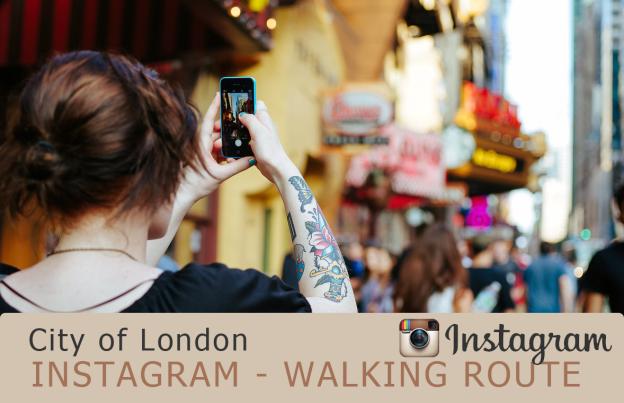 Instagram walking route City of London