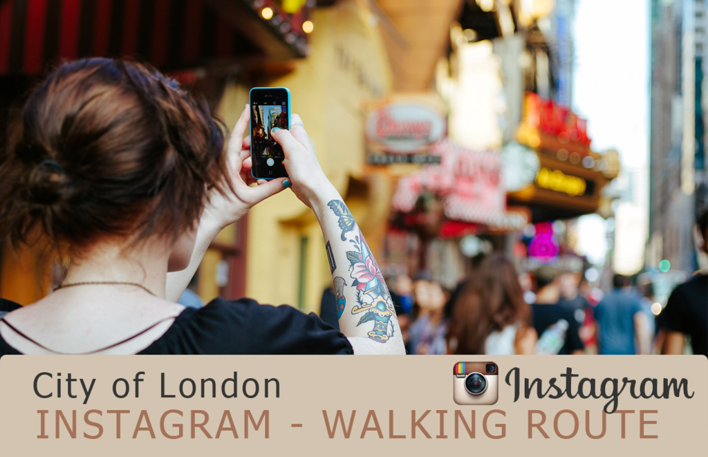 Instagram walking route City of London