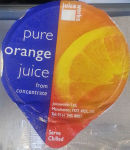 Precarious juice packaging
