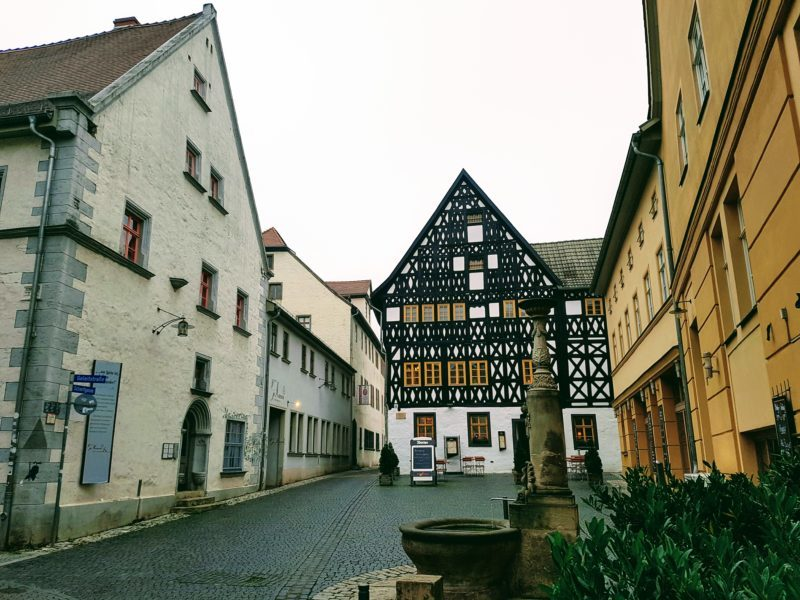 The scenic streets of Weimar, Germany