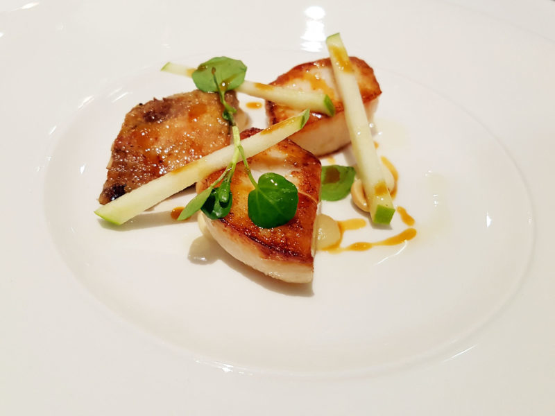Hand Dived Scottish Scallop from Forelles restaurant
