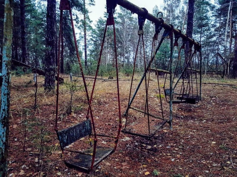 Swing set at the Chernobyl recreation park