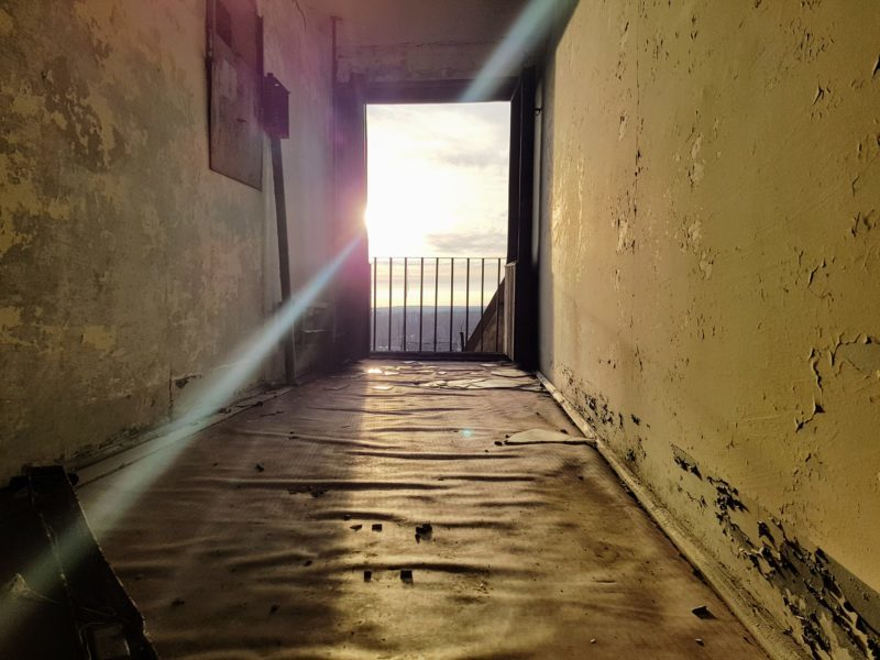 hallway photo in abandoned building in Pripyat, Chernobyl