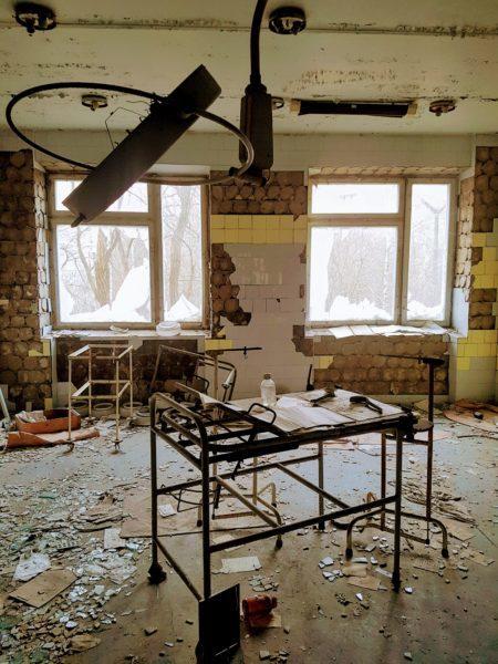 Abandoned hospital room in Pripyat