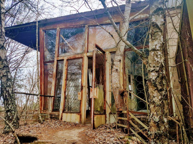 Abandoned cafe Chernobyl
