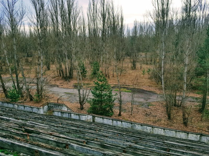 Football stadium Chernobyl