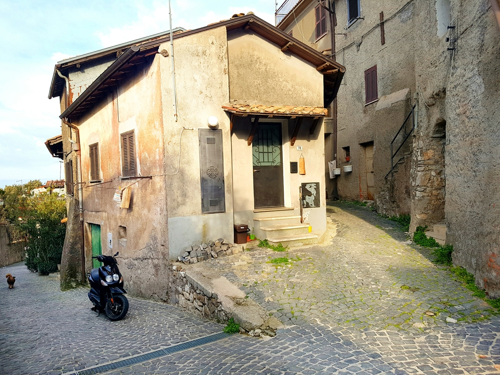 The streetscape of Palestrina