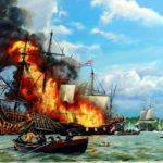Painting of the Battle of Medway Kevin Clarks