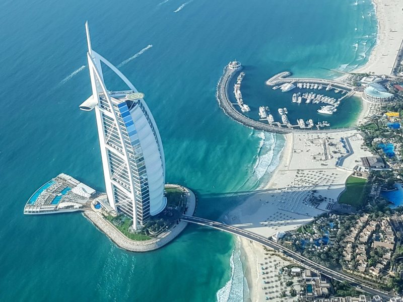 Burj Al Arab from a seaplane
