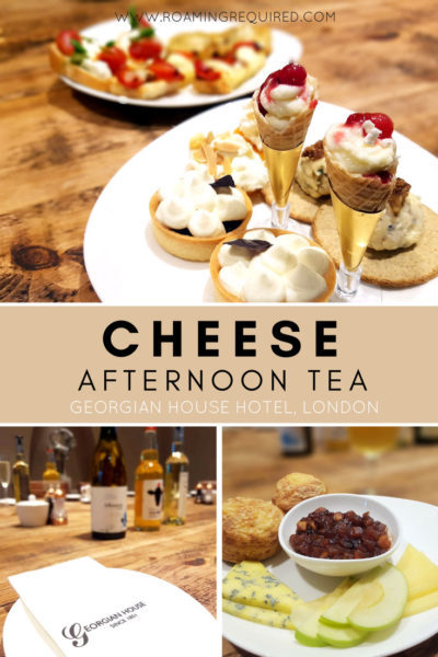 Cheese afternoon tea at Pimlico Pantry