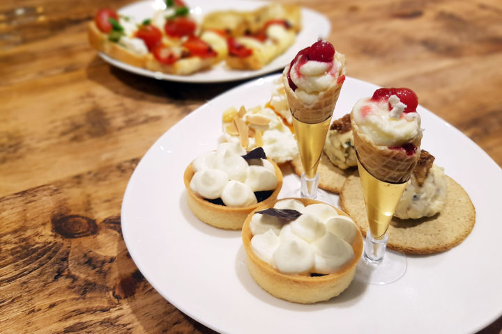 Sweet plate of Pimlico Pantry's Cheese Afternoon Tea