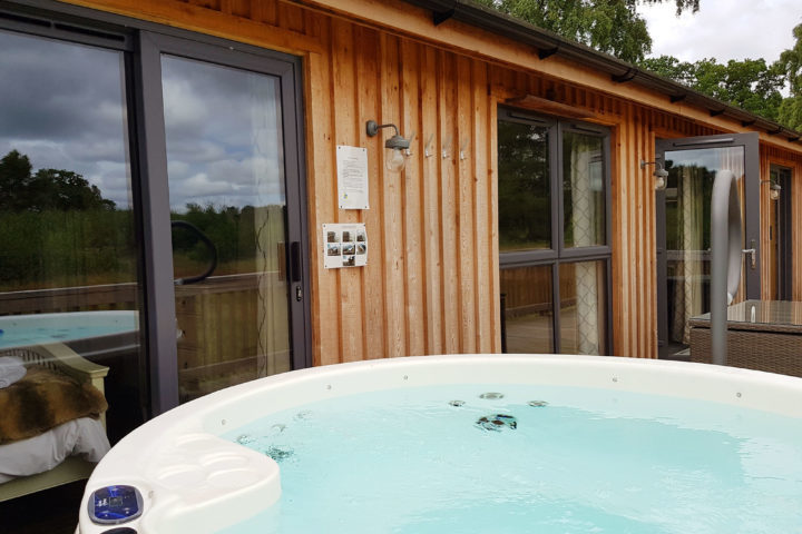 Private hot tubs at Sherwood Lodge in Nottinghamshire