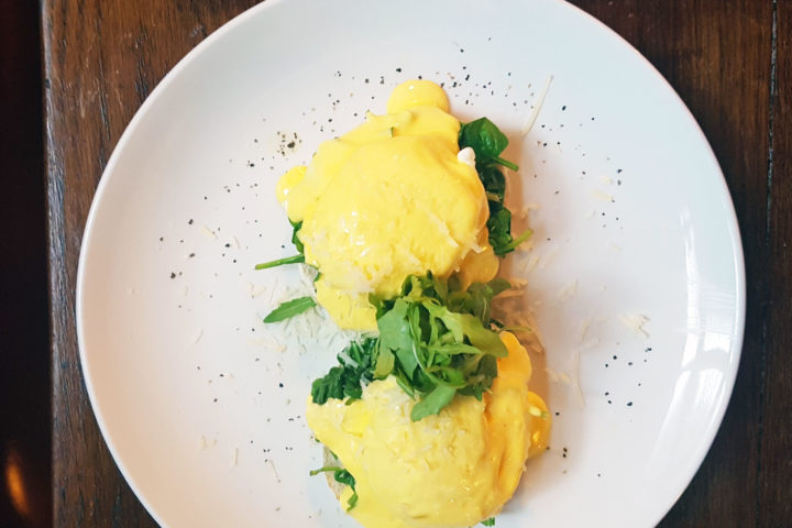 Brunch at The Piano Works - Eggs Florentine
