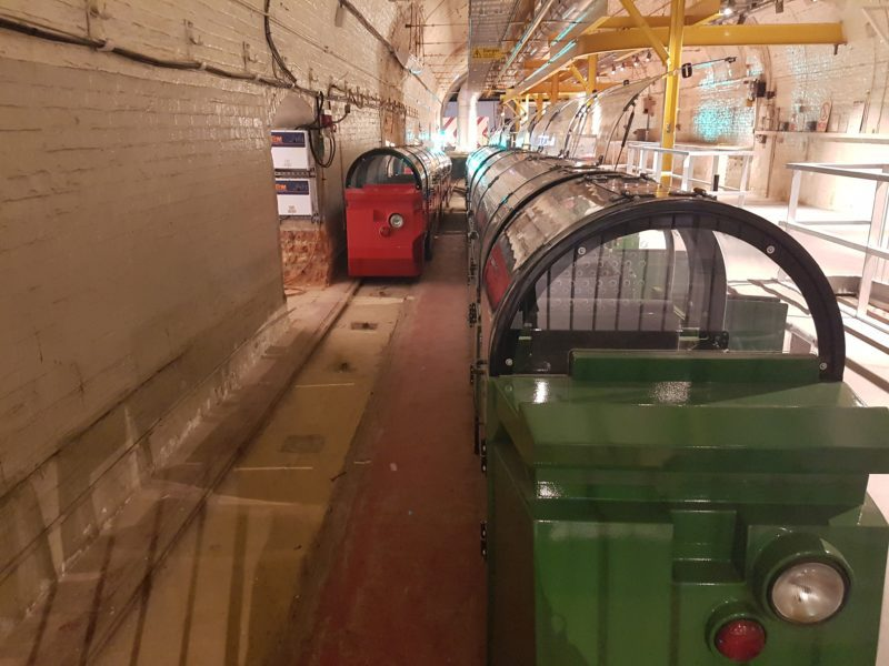 The Mail Rail ride in London's Postal Museum